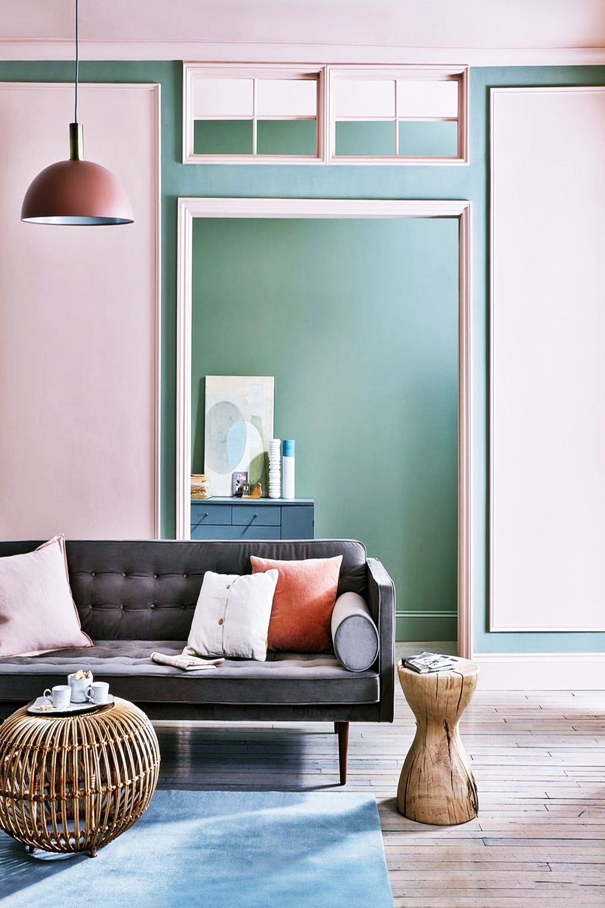 Modern Living Room Paint Design Trends 2020 Teal And White Is