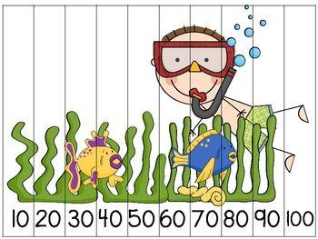 Puzzle de 10 en 10 | ABN | Pinterest | Schulanfänger, Mathe und ...