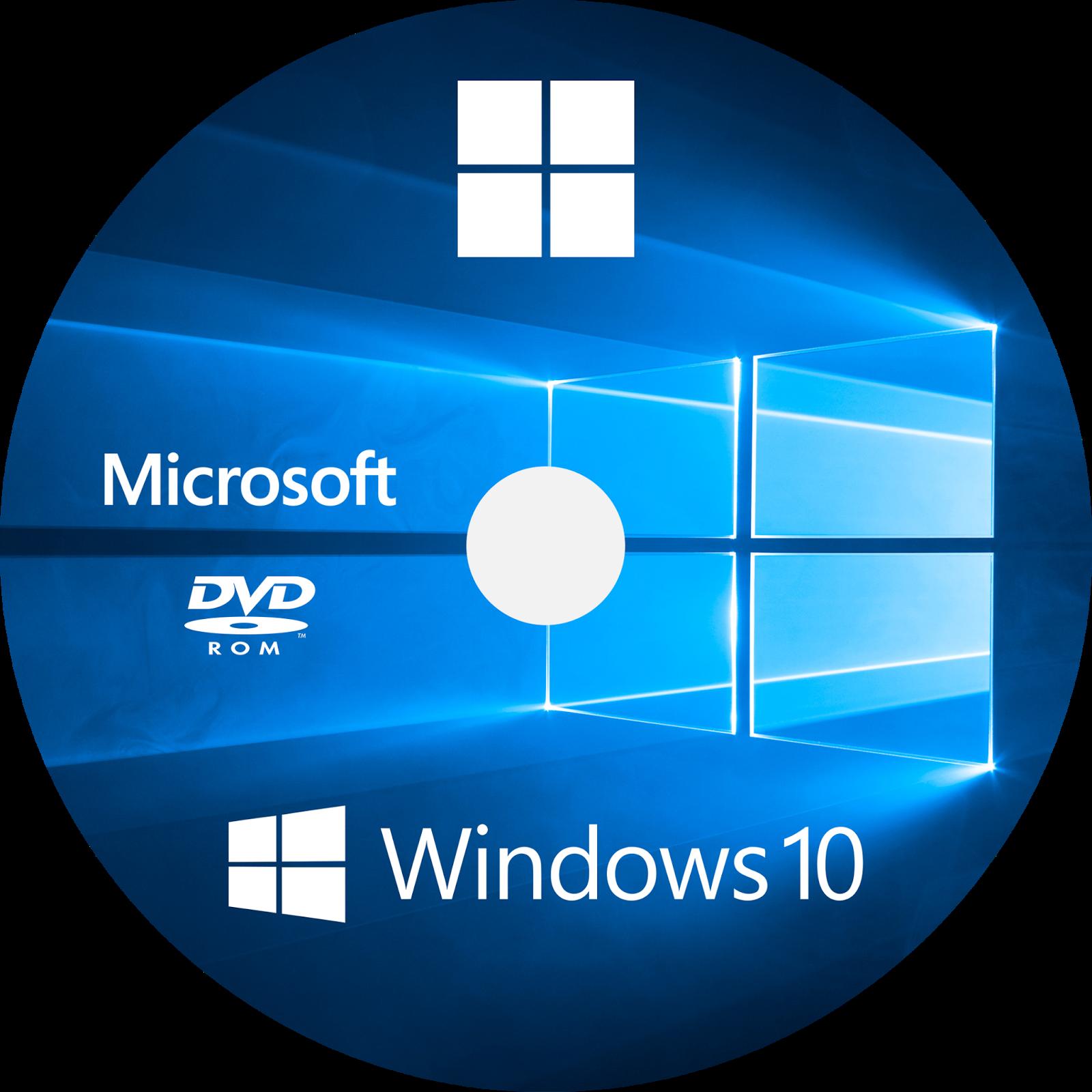 Macnix windows 10 cd dvd label dvd pinterest for Microsoft windows software