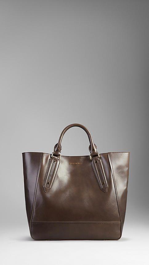 922a7263c49b Burberry Large Patent London Leather Portrait Tote Bag