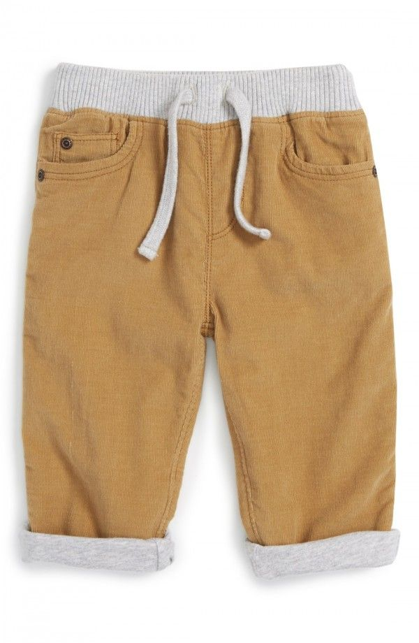 #CorduroyPants featuring an elastic waistband for a comfortable fit. #KIDScLOTHES #bABYbOYcLOTHES #GiftsForKids