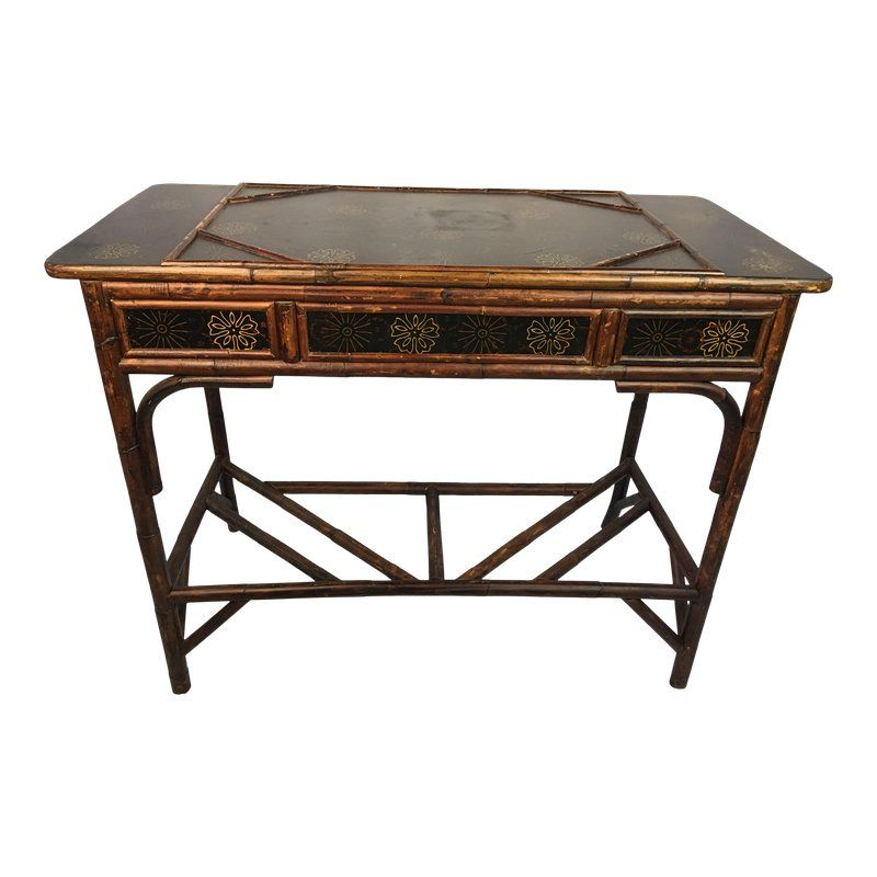1970s Chinese Chippendale Style Desk Or Console Desk Console Style
