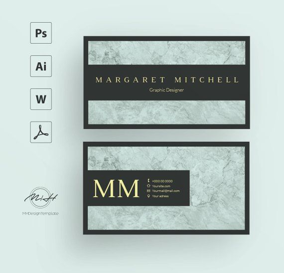 Blue Marble Business Card Template Creative Card Design Morden
