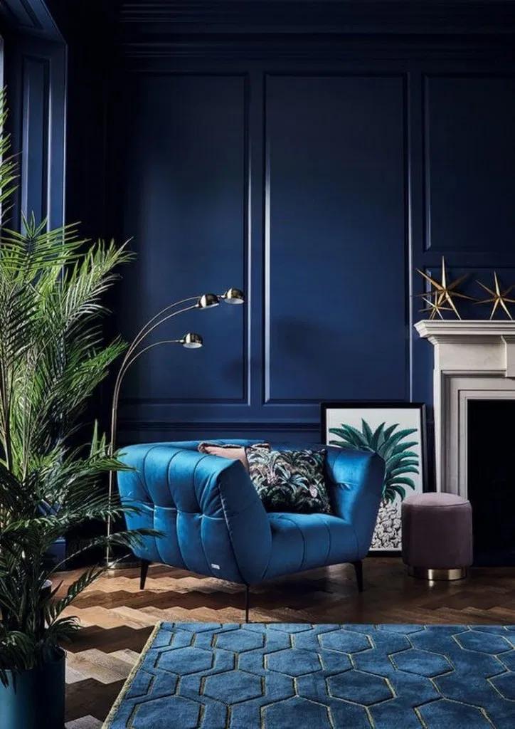 30 Vintage Living Room Design Ideas In Pretty Blue 4 Art Deco Living Room Vintage Living Room Design Blue Living Room