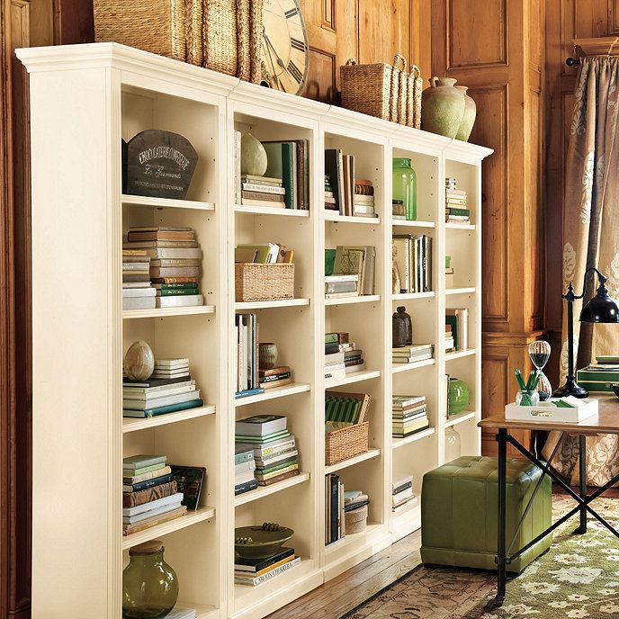 Home Office Sets Painted Office 5 Piece: Tuscan 5-Piece Flush Bookcases Set In 2019