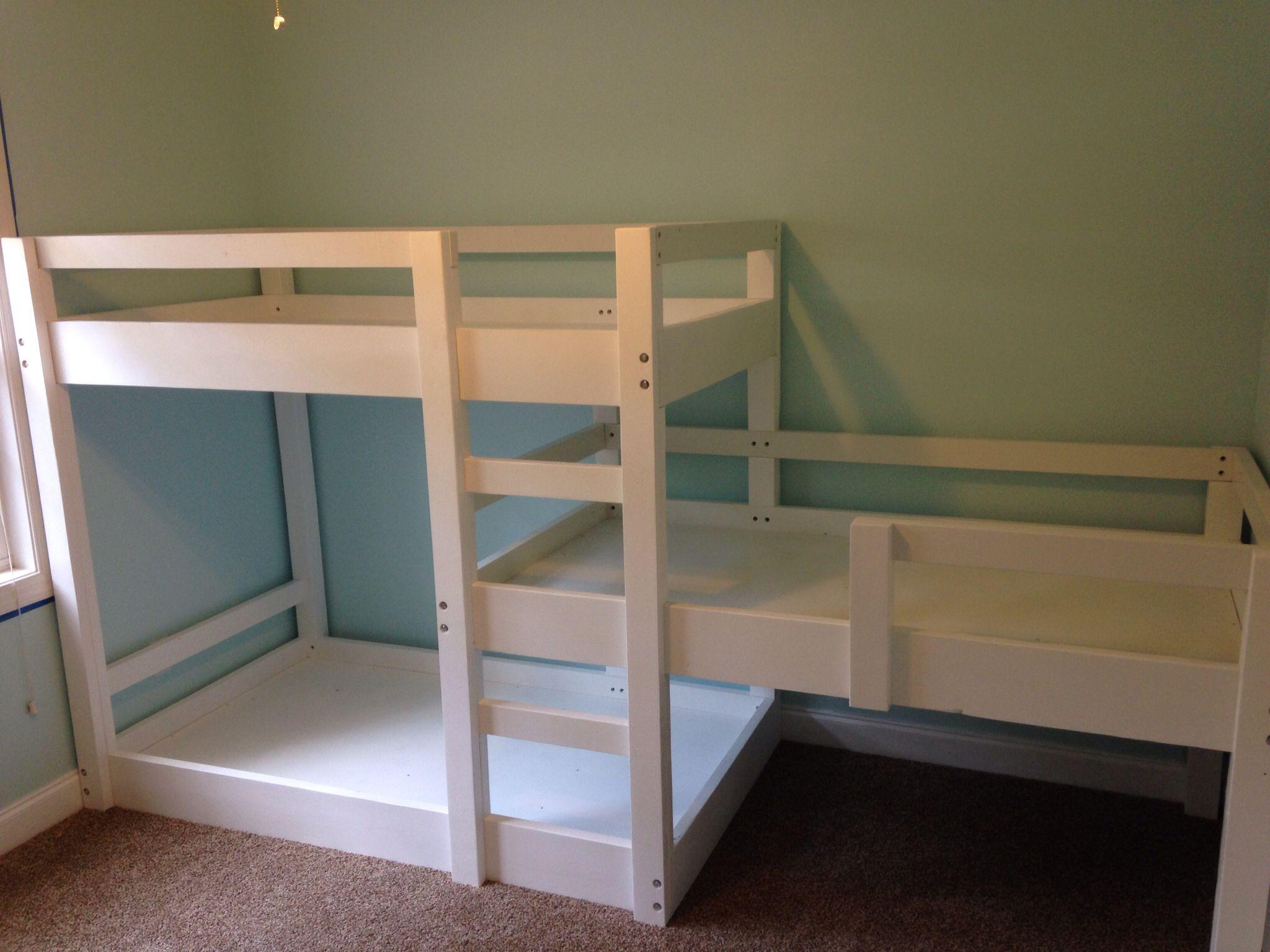 Loft bed with stairs diy  Triple Bunk Bed Build  Dormitorios niños  Pinterest  Triple bunk