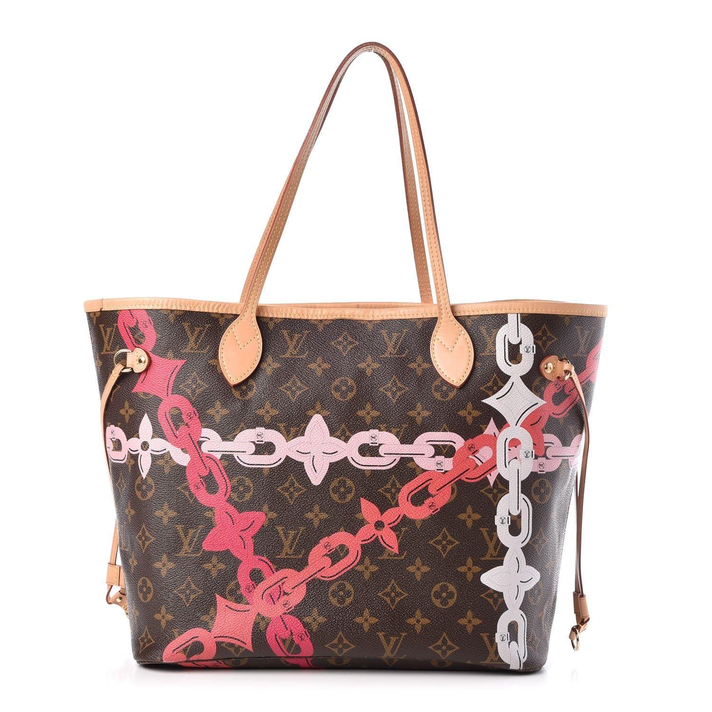 Louis Vuitton Monogram Bay Neverfull Mm Rose Ballerine Poppy In