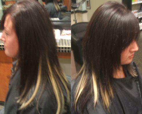 Peek A Boo Highlights Hair Highlights Dark Hair With Highlights Pinwheel Hair Color
