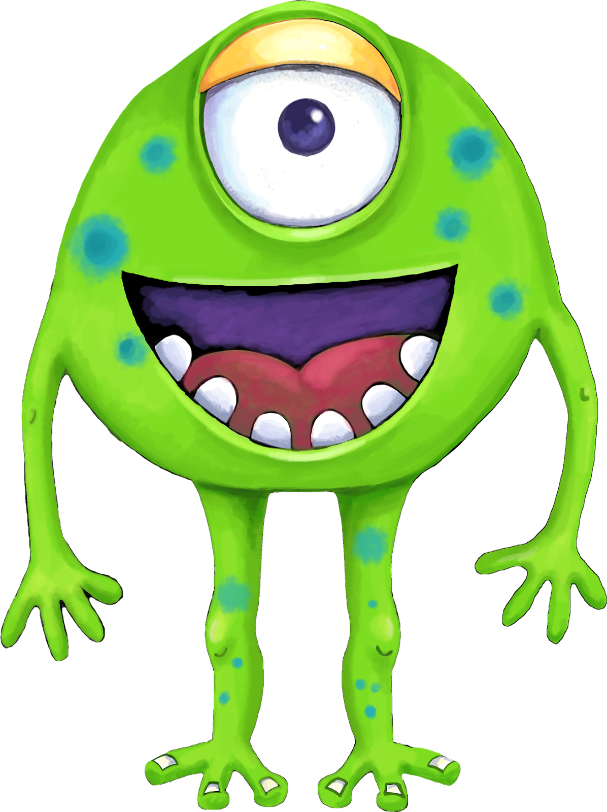 Your Free Art: Cute Blue, Purple and Green Cartoon Alien Monsters ...