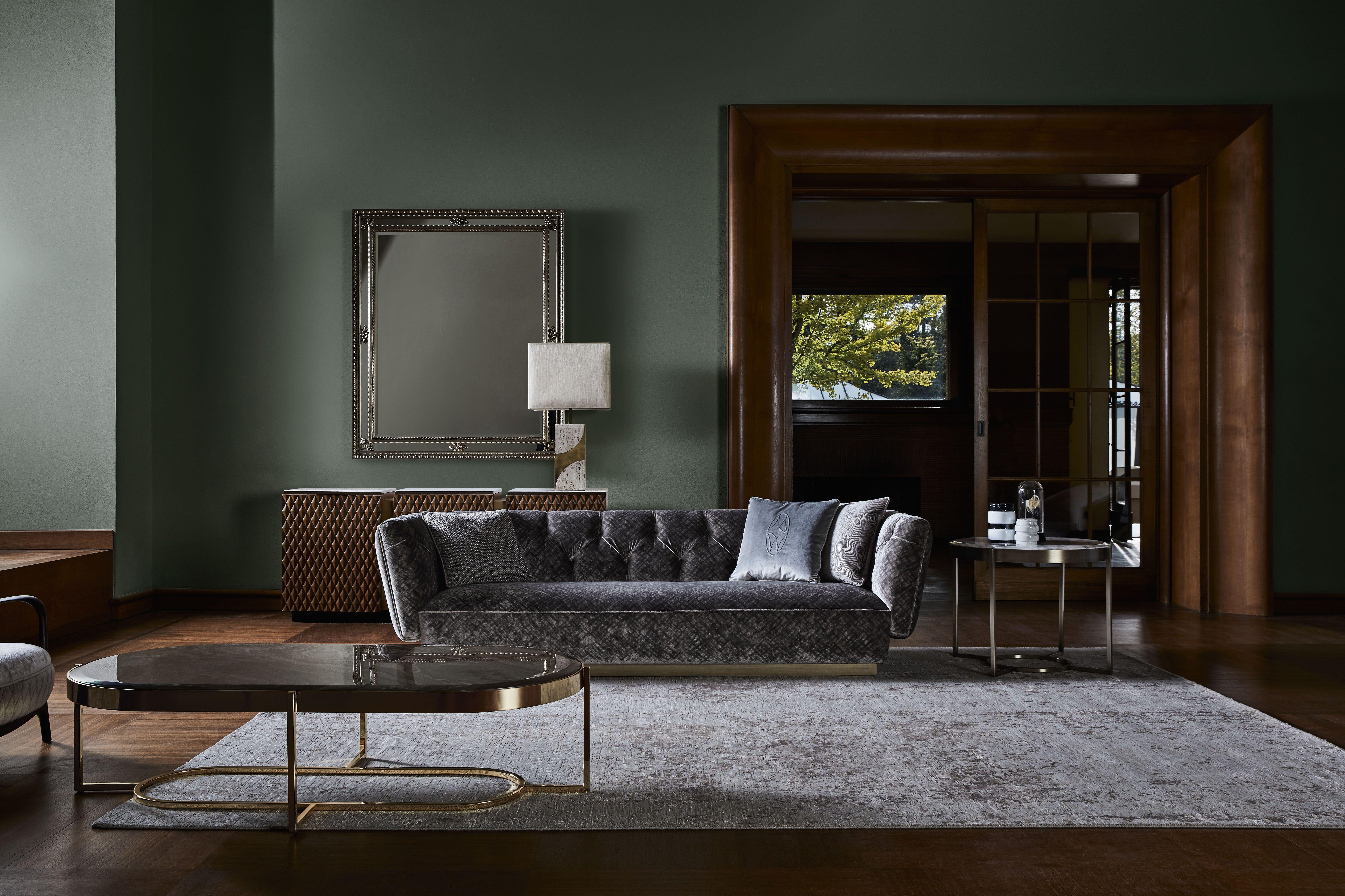 Ivonne  Tufted Design Upholstered Sofa #Luxury #Living #Furniture #Sofa