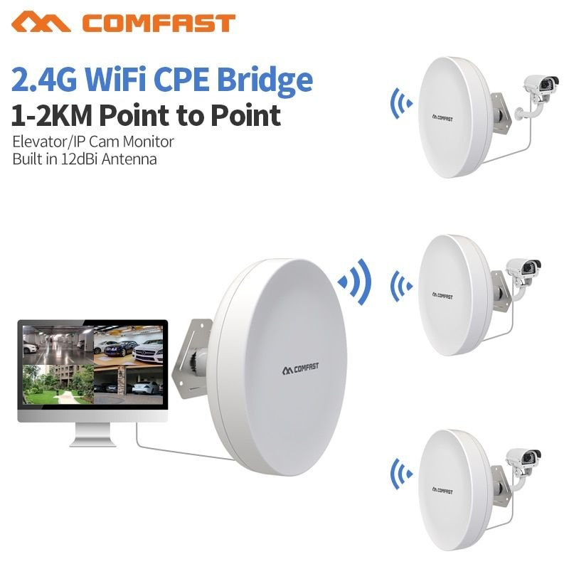 2pcs Outdoor Wifi Repeater Wireless wi-fi Range Extender