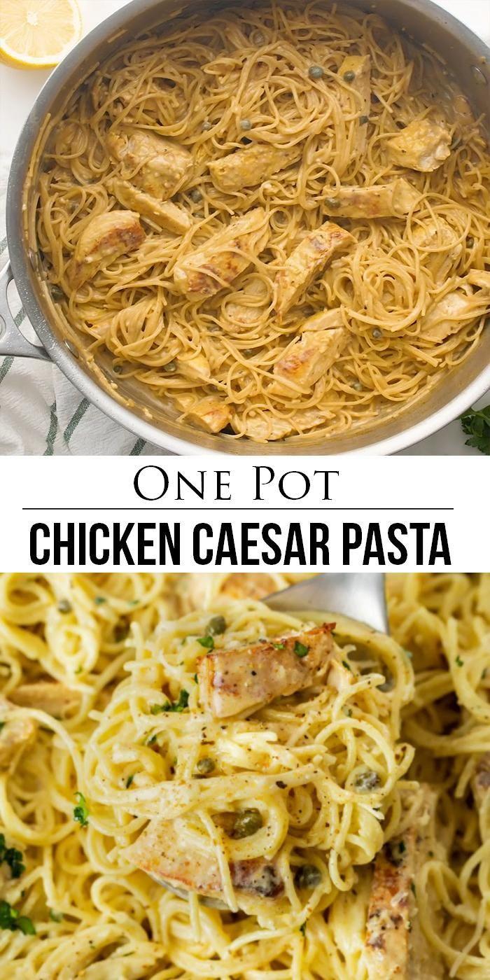 Chicken Caesar Pasta - One Pot!