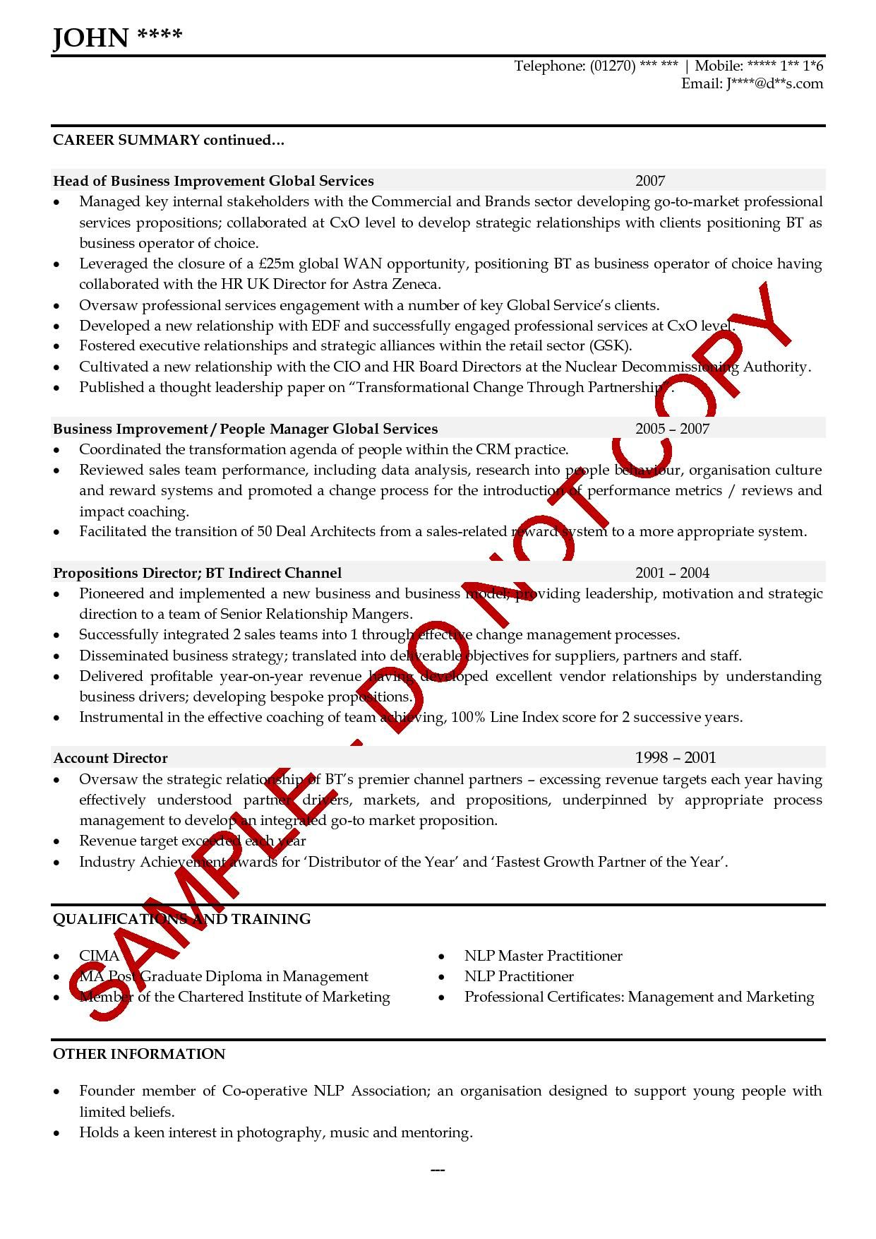 executive cv examples collection of solutions what is cv