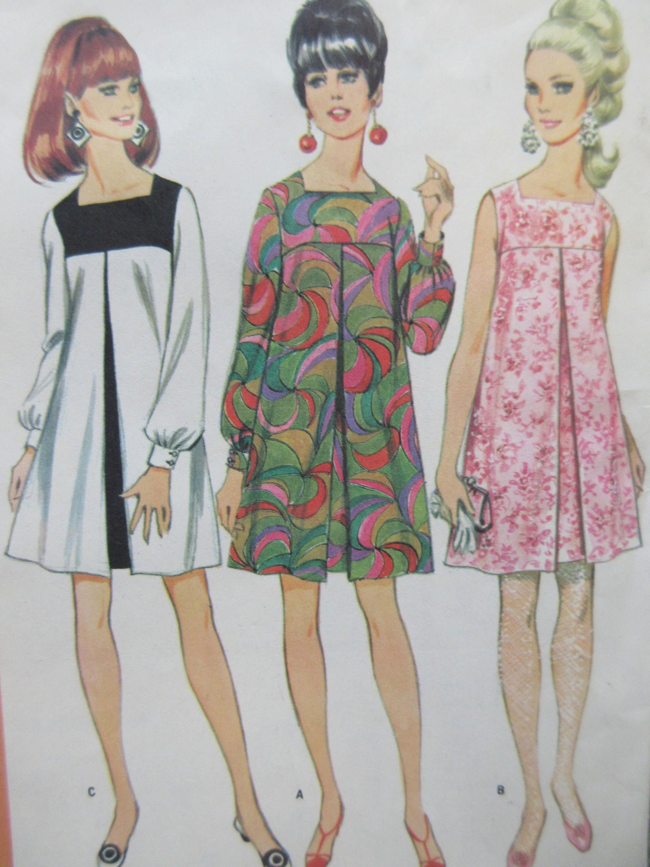Vintage McCall's 8945 Sewing Pattern, 1960s Dress Pattern