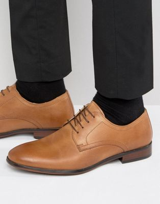 red tape lace up smart shoes in tan leather  oxford shoes