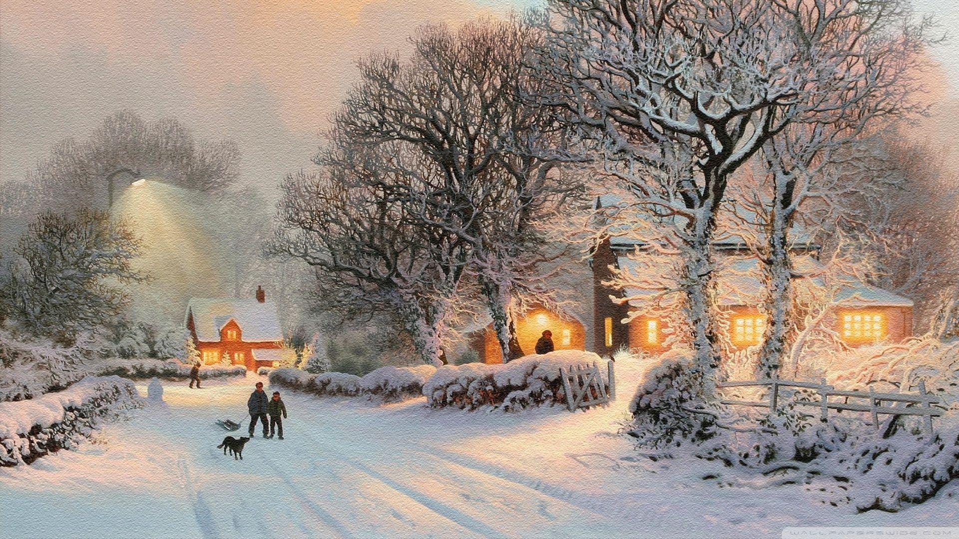 Les photos d cor de no l sous la neige no l sur page 2 noel image - Paysage enneige dessin ...