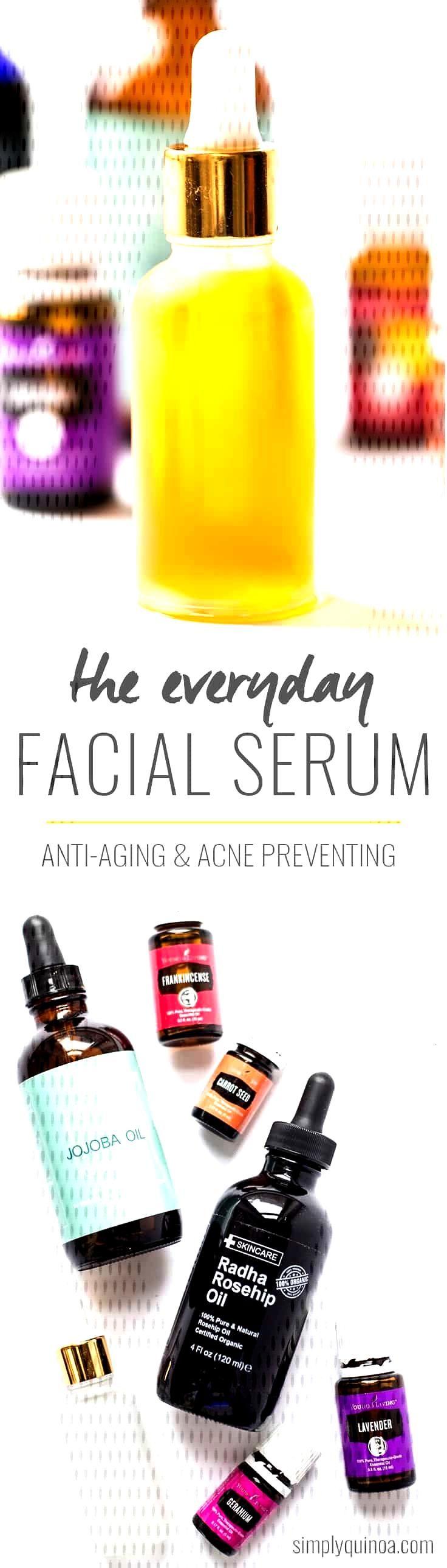 Everyday DIY Facial Serum - Simply Quinoa DIY Everyday Facial Serum made from jojoba oil, rosehip s