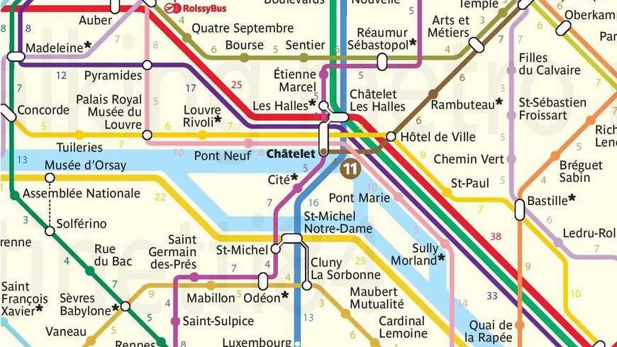En métro ou à pieds ! Le plan du métro de Paris avec le temps de