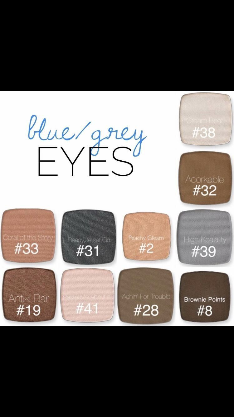 colors to complement blue and grey eyes. | limelife by