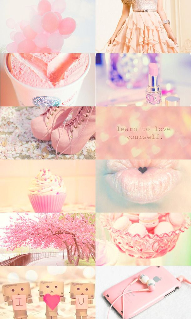 Cute Girly Pink Collage Iphone Wallpaper Cute pastel