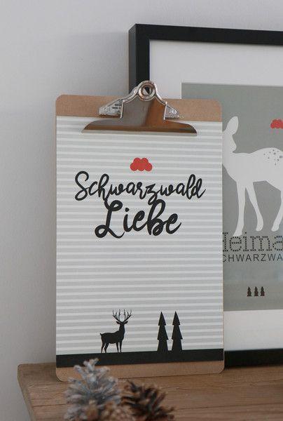 Digitaldruck - Poster SCHWARZWALDLIEBE - ein Designerstück von Heimwerk_Design bei DaWanda