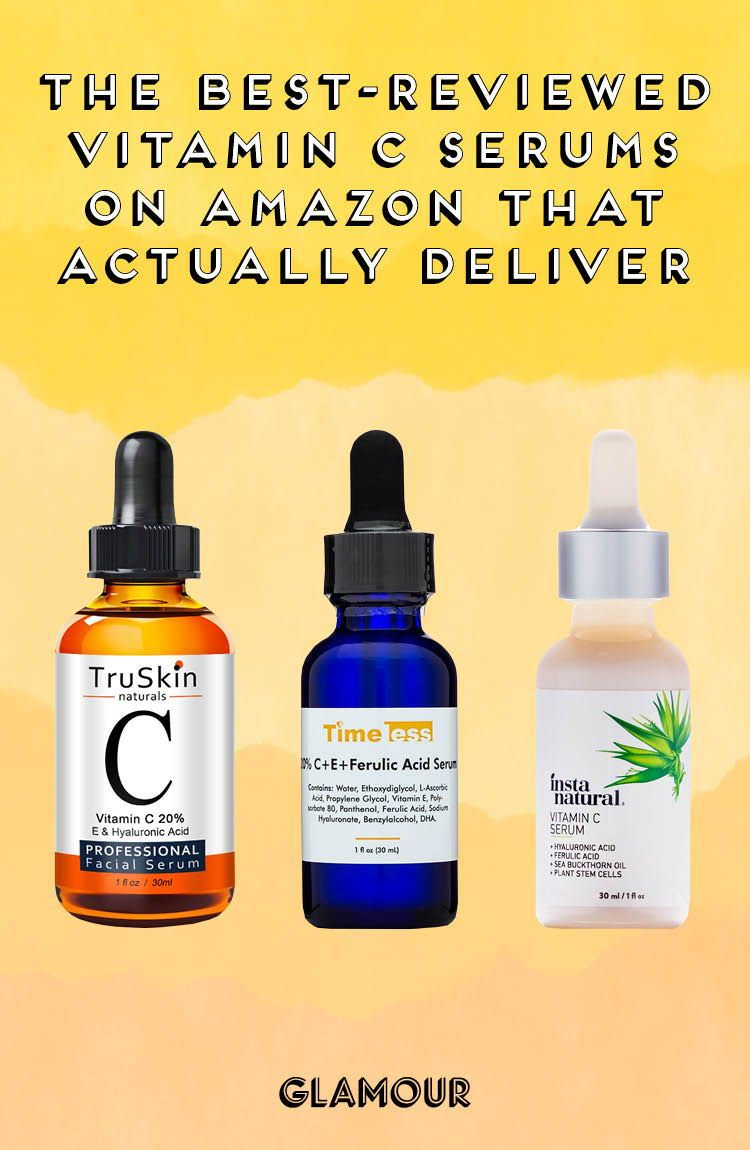 The Best Reviewed Vitamin C Serums On Amazon That Actually Deliver Vitamin C Serum Vitamins For Skin Natural Anti Aging Skin Care