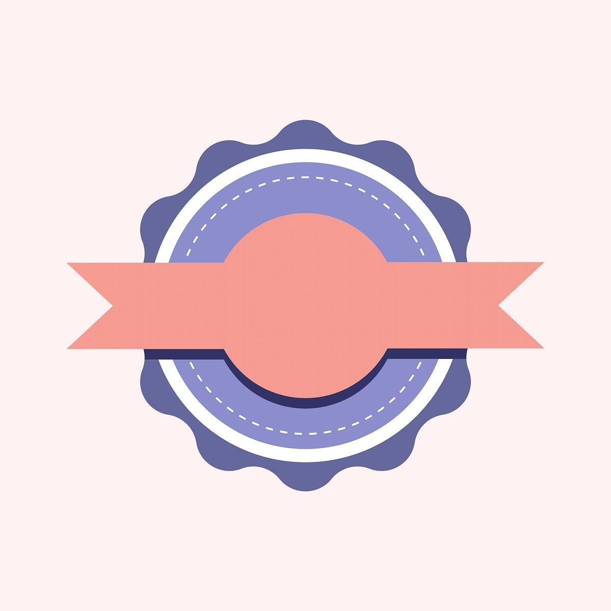 Pastel Emblem Badge Design Vector Free Image By Rawpixel Com Aew In 2020 Badge Design Vector Free Free Illustrations