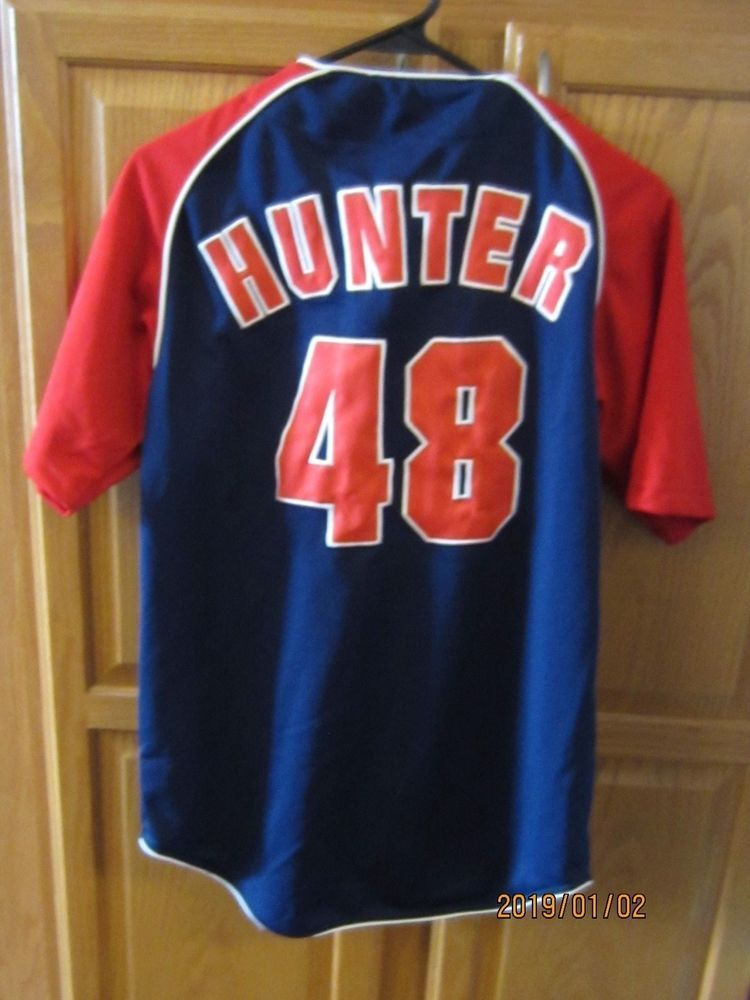 903aa401a Vintage True Fan MN Twins Youth (XL) Torii Hunter #48 Button Up MLB ...