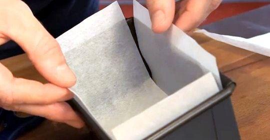 Gateau sans papier sulfurise