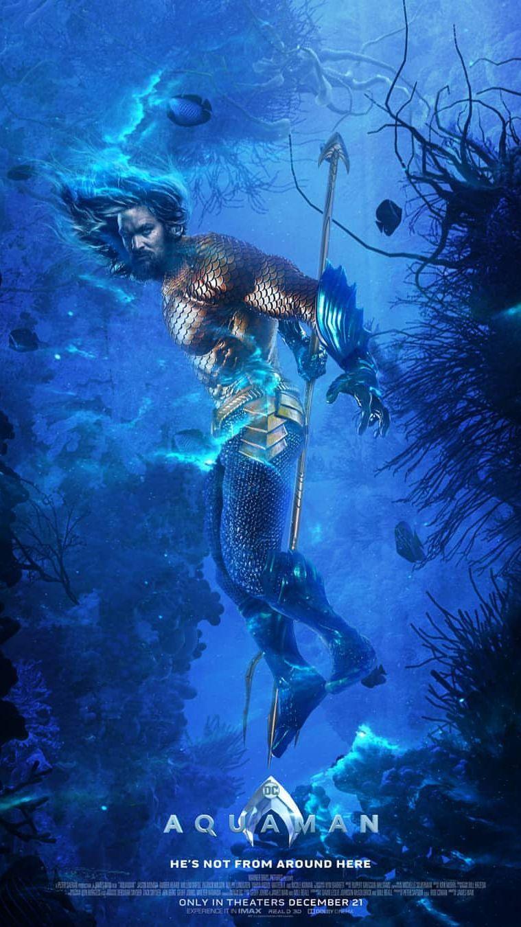 Aquaman Underwater Poster iPhone Wallpaper   DC   Aquaman
