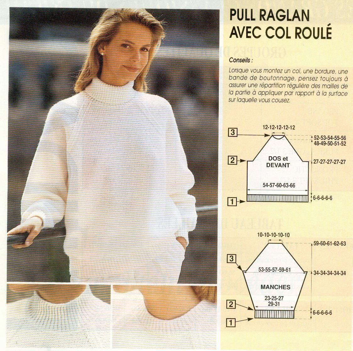 patron tricoter pull