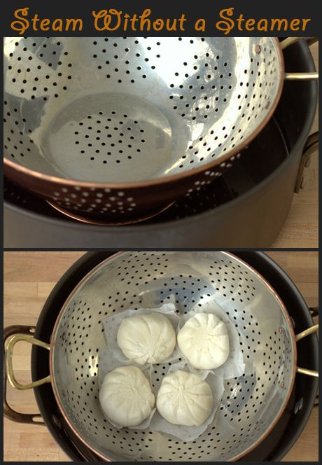 How To Steam Without A Steamer Basket Cooking Tips Noshon It Steam Recipes Cooking Guide Food Network Recipes