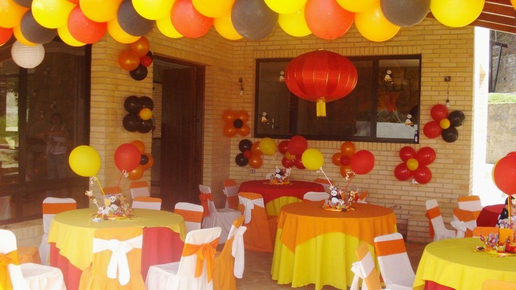 Kung fu panda fiesta fiesta infantil birthday party - Como decorar una fiesta de cumpleanos ...