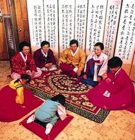 In Korea, New Year's Day is a more familyoriented event