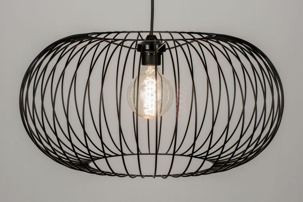 Hanglamp Voor Slaapkamer : Hanglamp modern metaal zwart rond slaapkamer