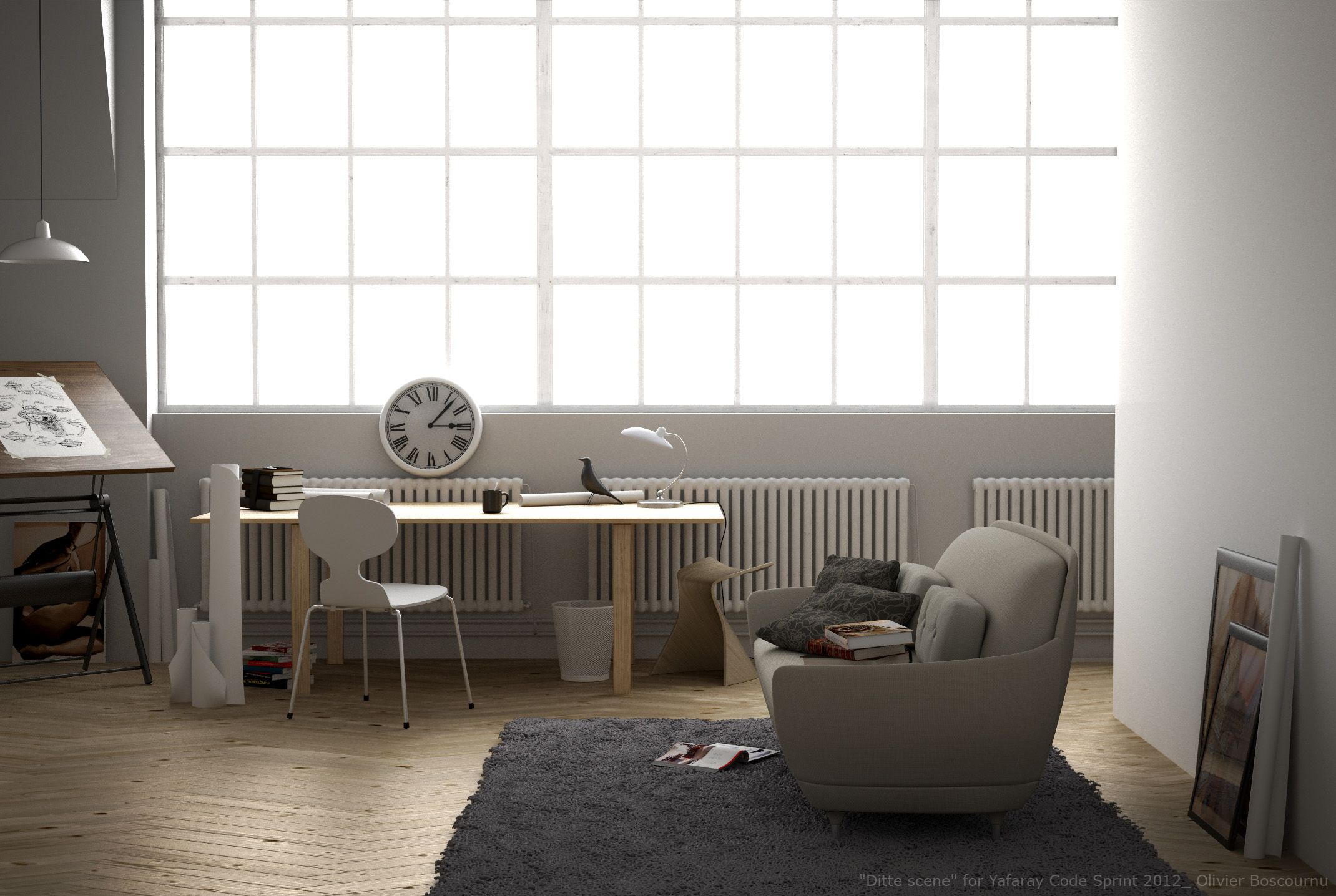 Magnificent Interior Scene By Blender Yafaray Interior Home Decor Evergreenethics Interior Chair Design Evergreenethicsorg