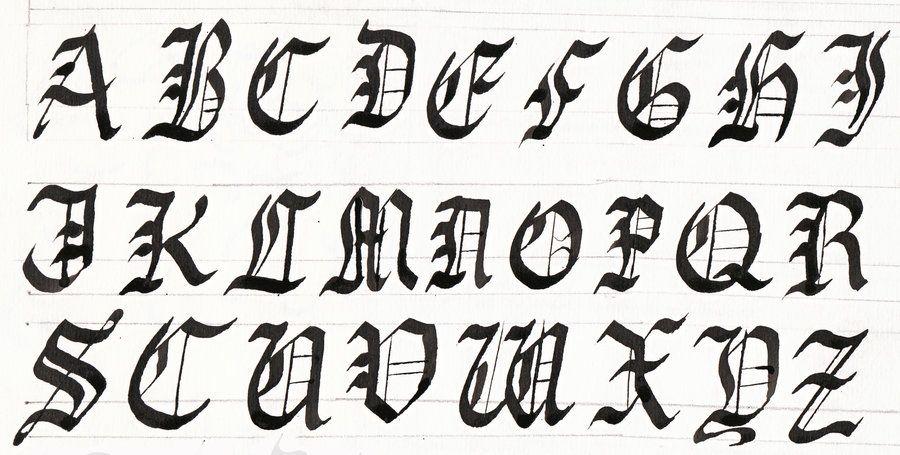 Calligraphy Tutorial Gothic Upper Case Denken Tank