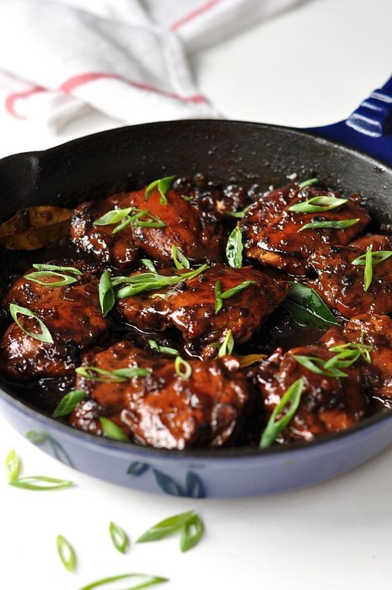 Filipino Chicken Adobo (Flavour Kapow!) is part of Adobo chicken - One of the most amazing Asian chicken dishes I have ever come across  Intense in flavour, but so fast and easy to prepare  MARINATING TIME 20 min to overnight