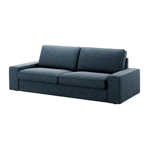 Kivik Canape 3 Places Hillared Bleu Fonce Sofas Azuis Sofa 3 Lugares Sofa Para Apartamento
