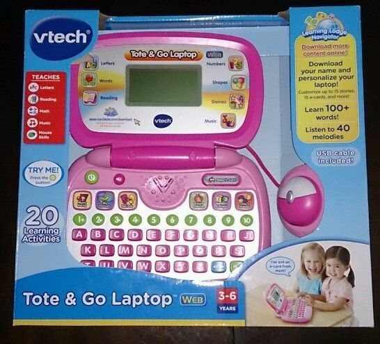 Vtech Tote and Go Laptop Web Mouse USB Cable ABC Keyboard Educational 80-120550