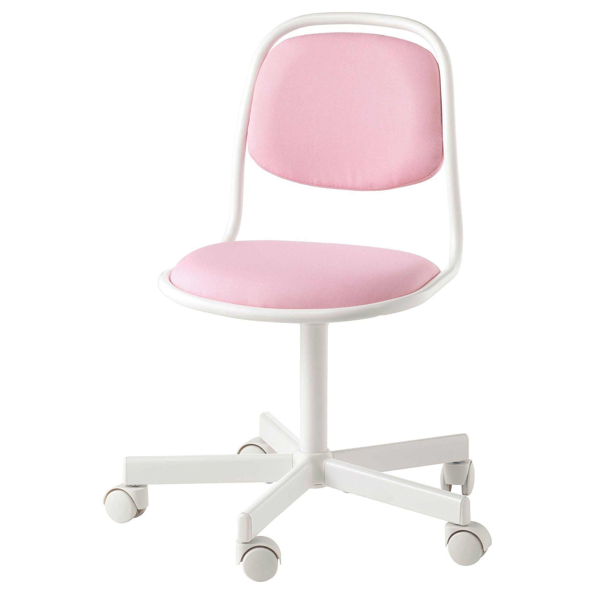 Orfjall Child S Desk Chair White Vissle Pink Ikea Childrens Desk And Chair Pink Desk Chair Childrens Desk