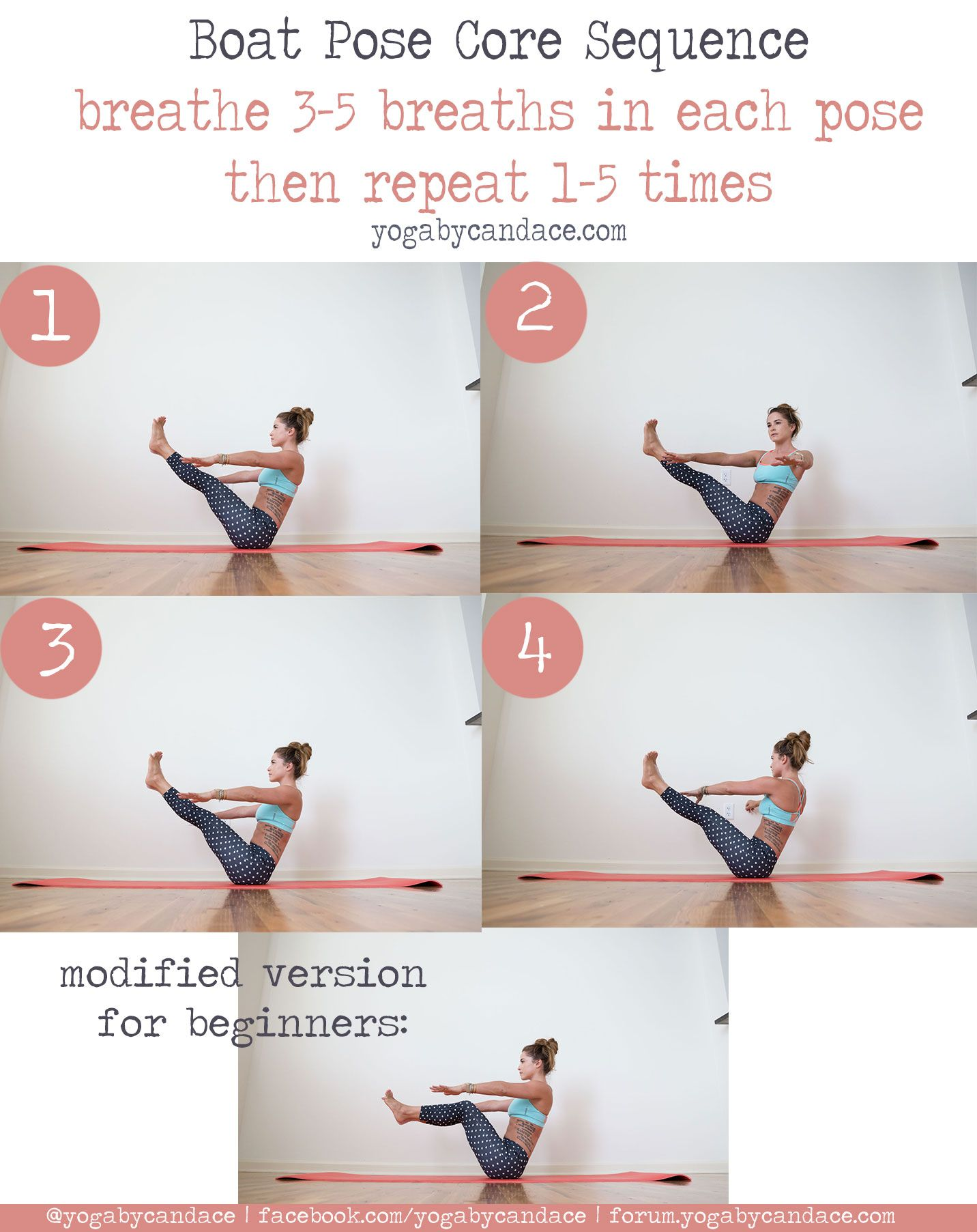 Core Strengthening Boat Pose Sequence Yogabycandace Boat Pose Yoga Poses For Beginners Core Strengthening Yoga