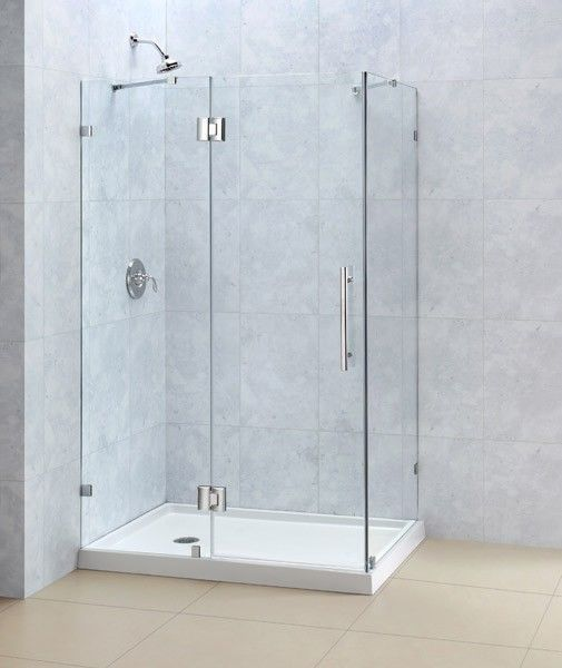Dreamline 34 X 46 Quatralux 3 8 Glass Frameless Pivot Corner Shower Enclosure Glass Bathroom Glass Shower Glass Shower Doors