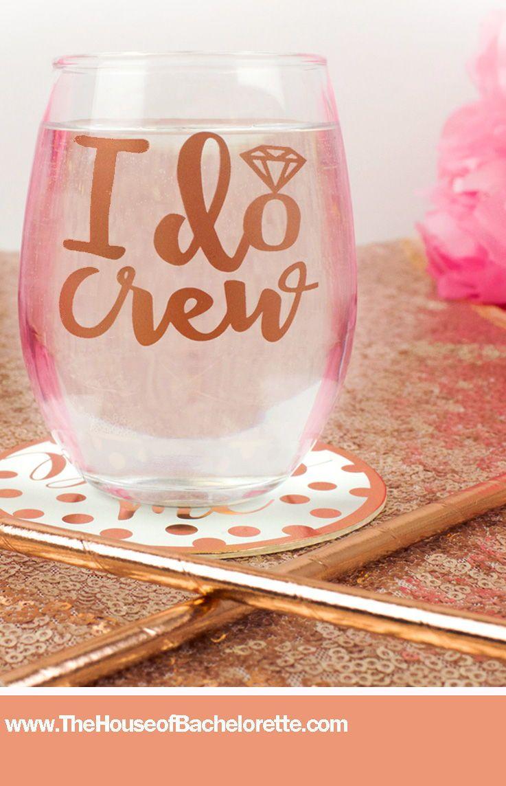 I do crew stemless wine glass bridesmaid gift ideas