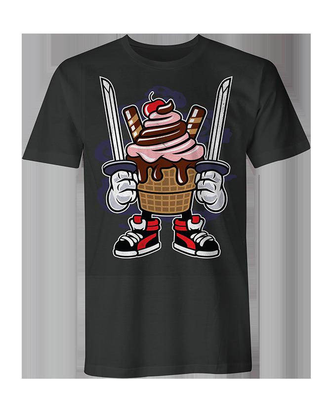 Ice Cream Ninja Mens & Womens T Shirt - Black / XXL / Mens