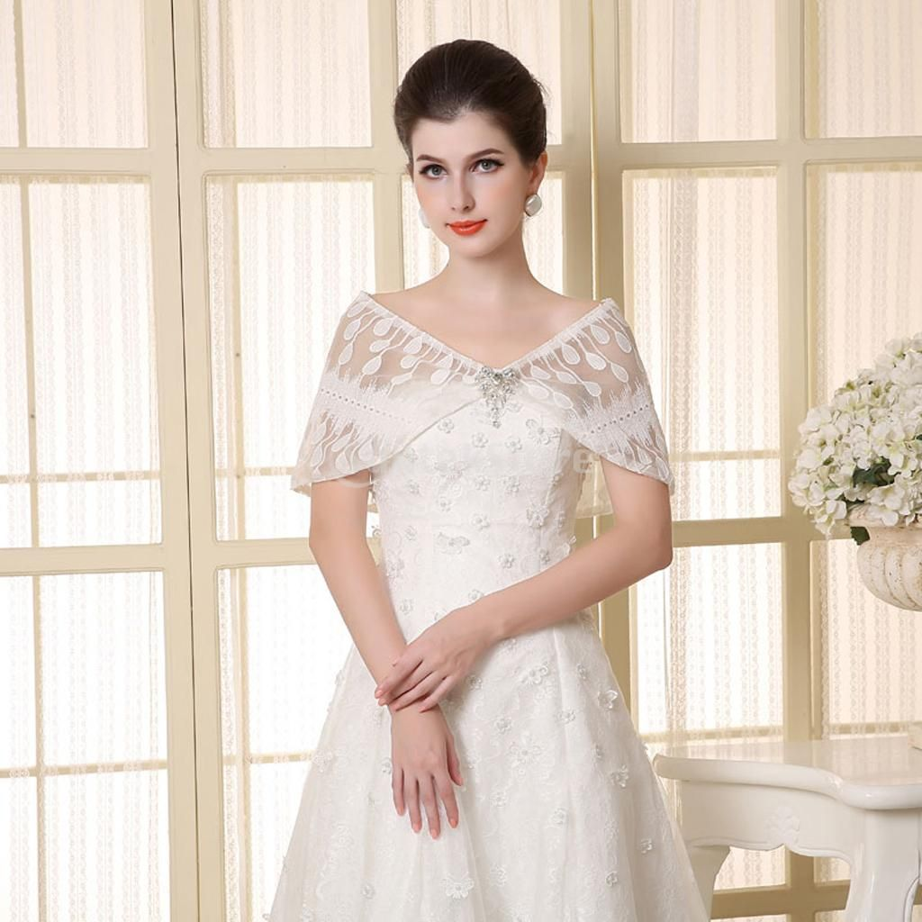 Free wedding dress catalogs  SPMART Bridal Shawl with Crystal Rhinestone Bow Knot Evening Wedding