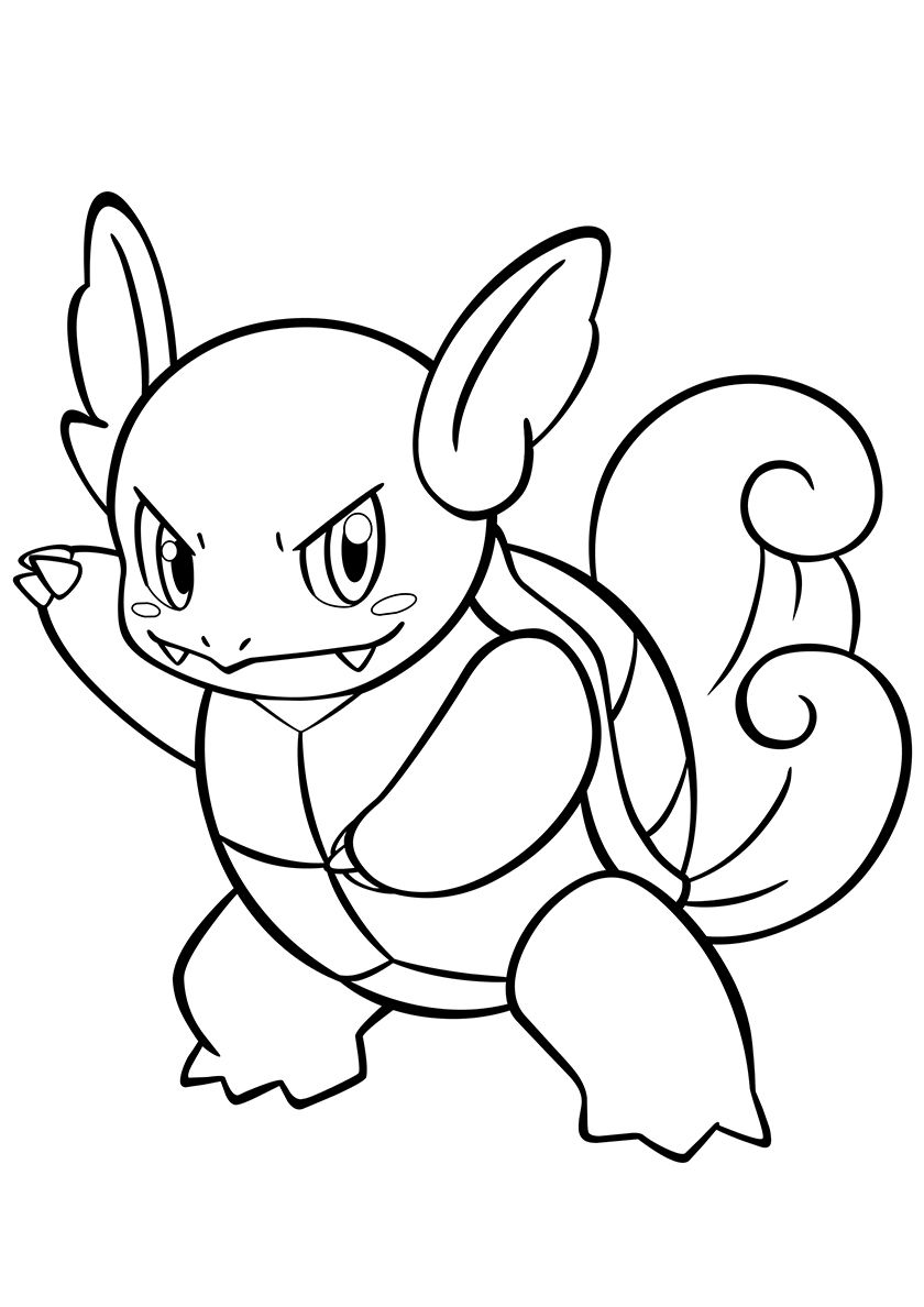 008 Wartortle High Quality Free Coloring From The Category Pokemon More Printable Pictures On Coloring Pages Pokemon Coloring Pages Pokemon Coloring Sheets