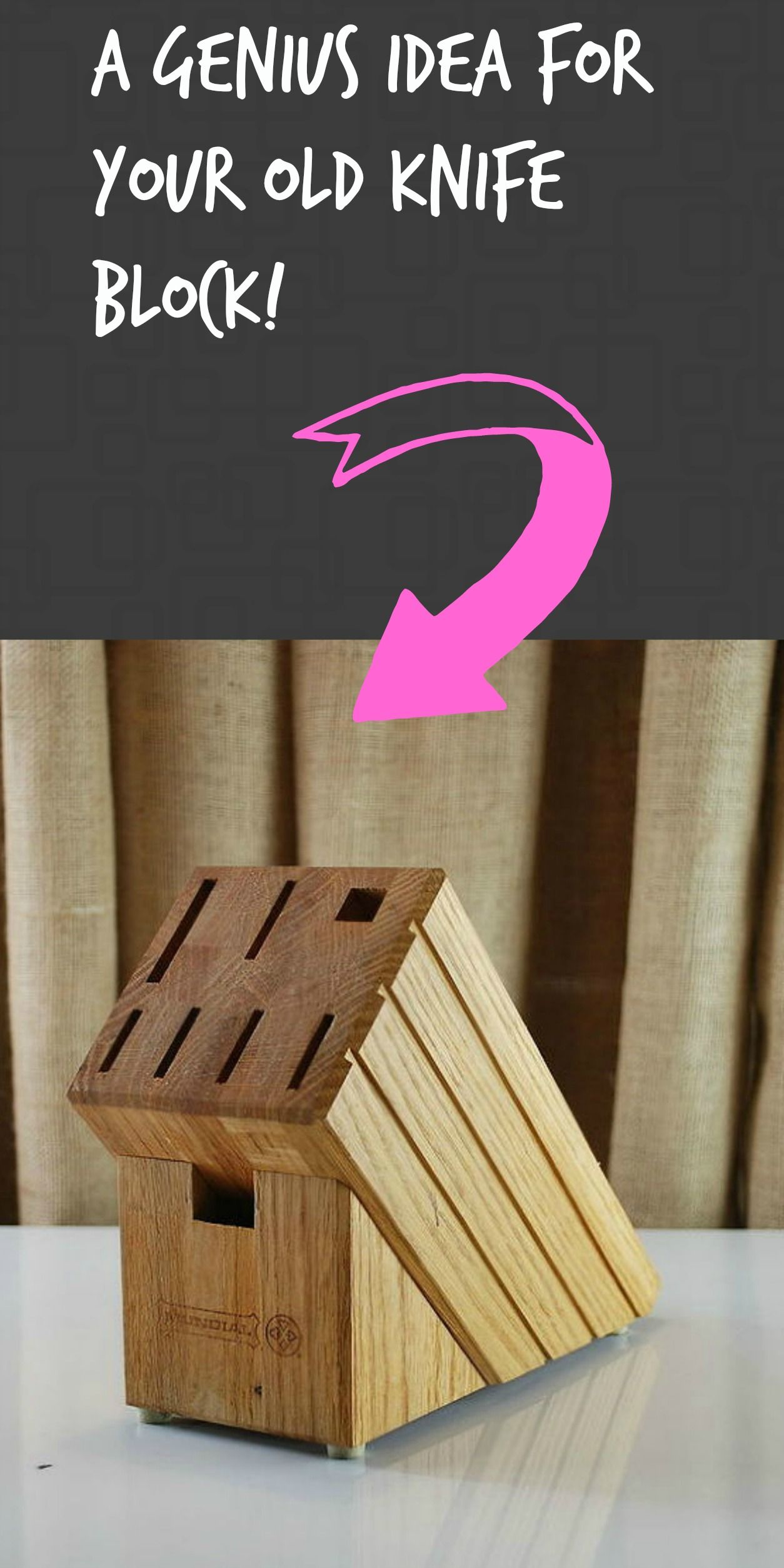 How To Make A Creative Gift Using A Knife Block Knife Block Diy