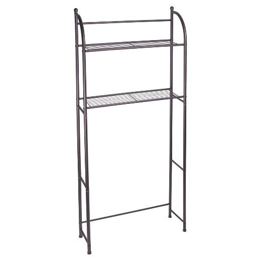 Add Convenient Storage Space To A Small Bathroom With The Target Home Amp Trade Oil Rubbed Metal Etagere In Bathroom Shelves Bathroom Shelf Decor Over Toilet