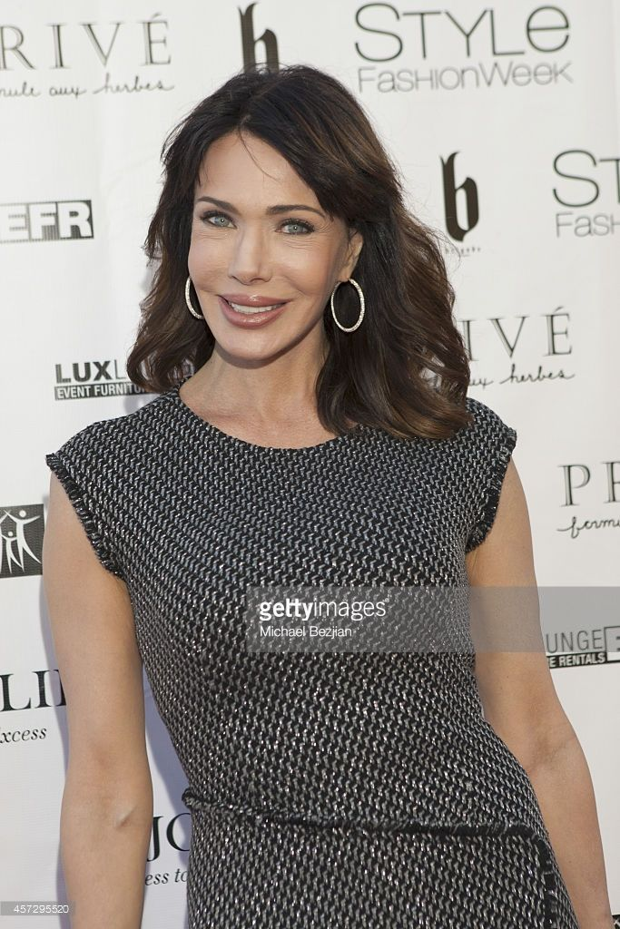 Actress Hunter Tylo arrives at SUE WONG Spring 2015 'Fairies & Sirens' Fashion Show on October 15, 2014 in Los Angeles, California.